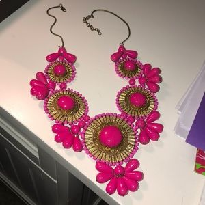 Pink and gold necklace!